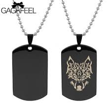 custom engraved pendant gagaffel dog tags army cards men jewelry laser custom