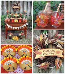 kara s ideas happy harvest thanksgiving dessert table