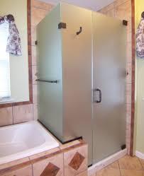 glass sliding shower doors bathroom modern 3 panel sliding shower door frameless in the