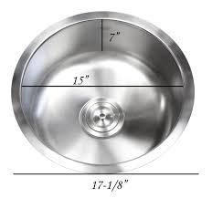 Inch Stainless Steel Undermount Single Bowl Kitchen  Bar - Round sink kitchen