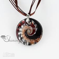 glass necklace pendants images Wholesale round glitter silve r foil hand blown glass necklaces jpg
