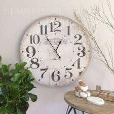 Home Decor Clocks Large 60cm Vintage Look White Wall Clock Humble Home