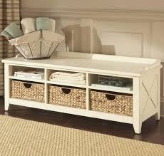 entryway bench with baskets and cushions amazing the modern entryway storage bench with cushion household