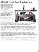 skil 10 inch table saw skilsaw 10 inch worm drive table saw contractor supply magazine
