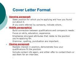 cover letter paragraph