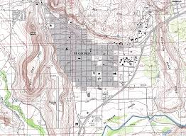 Topographical Map Of New Mexico by Washington County Maps And Charts