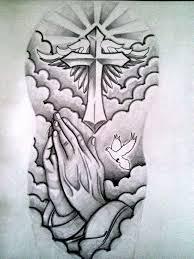 cross designs half sleeve drawings tattooic