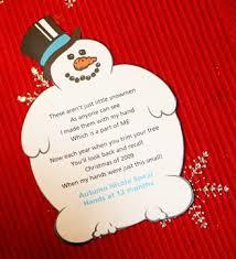 five snowmen handprint ornament