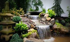 landscape waterfall small garden ponds pond designs with
