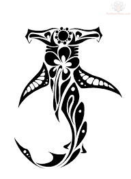 pin tribal hammerhead shark tattoo tattoos and designs on clip