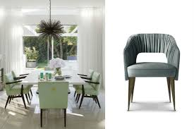 the newest spring trends for upholstered dining chairs