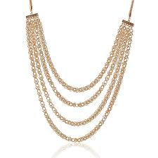 long gold tassel necklace images Long chain necklace designs bridal gold plating layered chain jpg