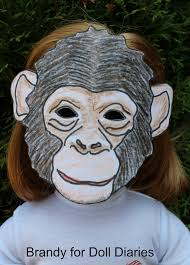 make a chimp mask for you and doll doll diaries