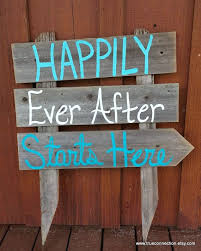 teal wedding decorations wedding sign happily after starts here arrow