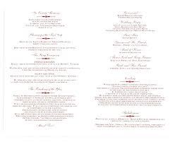 wedding ceremony booklet template wedding ceremony booklet template