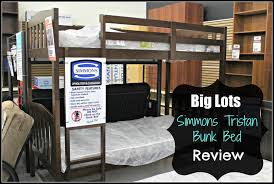 Big Lots  Simmons Tristan Bunk Bed  Zeopedia Memory Foam - Simmons bunk bed mattress