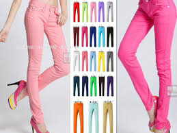 colored skinny jeans for women bod jeans