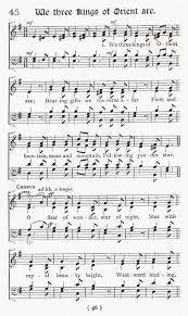 we three kings sheet music