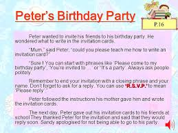 informal invitation birthday party unit 2 come to my party ppt video online download