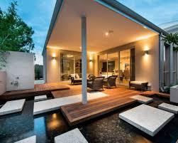 Modern Back Yard Modern Backyard Design Home Interior Design Ideas
