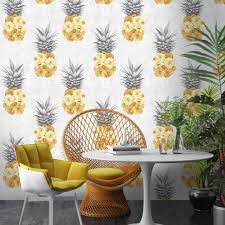 ludic pineapple wallpaper by woodchip and magnolia by woodchip