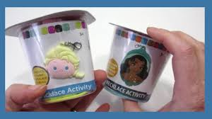 disney tsum tsum frozen elsa and moana necklace activity craft