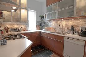 finished kitchen views the marble backsplash from olympia u2026 flickr