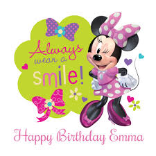 minnie mouse smile edible image cake decoration
