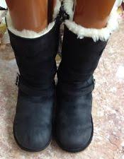 womens kensington ugg boots sale ugg australia 1969 kensington leather boot sheepskin black y