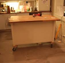 kitchen island with casters kitchen island on wheels ikea hackers