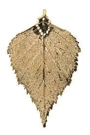 dipped gold copper iridescent leaf ornaments archives trisha