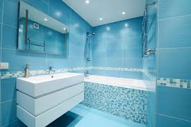 Small Blue Bathroom Ideas Decorative Subway Tile Bathroom Designs Image Of Blue Glass Idolza