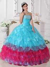 aqua blue quinceanera dresses blue and pink cascade skirt quinceanera dress