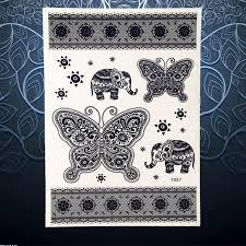 indian elephant temporary black ink color waterproof