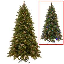 national tree company 6 5 ft powerconnect snowy berry artificial