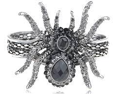 vintage black and white halloween images vintage ish creepy halloween grey crystal rhinestone spider