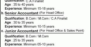 chief accountant junior accountant jobs senior and junior accountant jobs jang