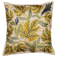 cushion covers for sofa pillows embroidered floral pillows archives kashmir fine arts