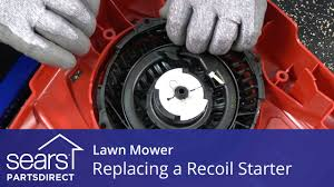 replacing the recoil starter on a lawn mower youtube