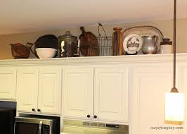 Kitchen Decorating Ideas Above Cabinets by Interior Above Cabinet Decorating Ideas Vintage Refrigerator