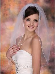 wedding veils one tier bridal veils with pencil edge 006003760 wedding