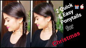 2 quick u0026easy ponytail hairstyles for long hair for christmas