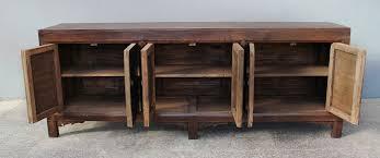 vintage walnut sideboard buffet cabinet media console custom