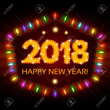 electronic new year cards happy 2018 new year flyer christmas greeting card vector