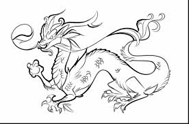surprising easy to draw chinese dragon drawings with coloring