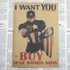 shop vintage posters captain america civil war retro poster