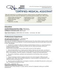 Medical Assistant Job Description For Resume by Medical Assistant Resume Template Medical Assistant Resume