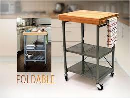 origami folding kitchen island cart cool origami foldable island kitchen cart w grey frame oem origami