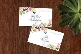 place cards watercolor wreath wedding place cards by yao cheng minted