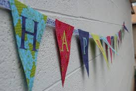 Happy Birthday Flags How To Make A Fabric Happy Birthday Banner Using A Cricut The